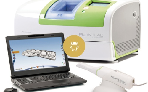 Plan Scan dental crown machine