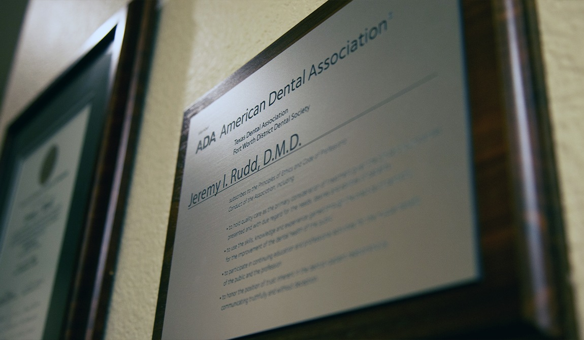 ADA plaque for Dr. Rudd